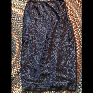NWOT Rafaella Size 10 Purple Long Skirt Dressy
